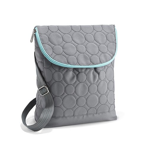 Grey Quilted Dots