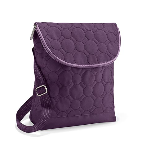 Plum Quilted Dots