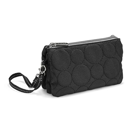 Black Quilted Dots