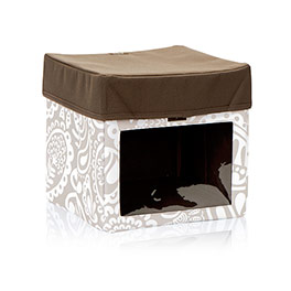 Your Way Junior Cube with Your Way Junior Cube Lid in Taupe Playful Parade - 2767