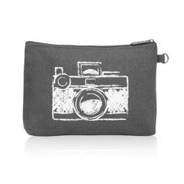 Mini Zipper Pouch in Camera - 3013
