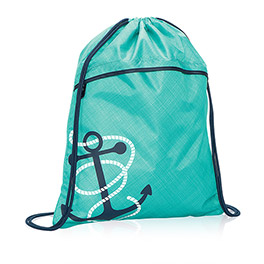 Cinch Sac in Turquoise Cross Pop w/ Anchor - 3039