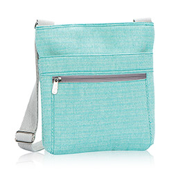 Organizing Shoulder Bag in Turquoise Cross Weave - 3165
