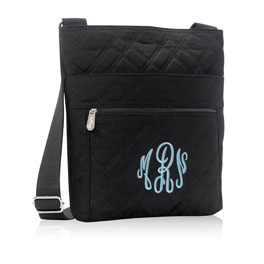 Organizing Shoulder Bag in Quilted Plaid - 3165