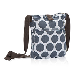 Retro Metro Crossbody in Grey Mod Dot - 3972