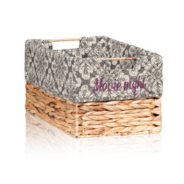 Your Way Rectangle Basket Liner in Playful Pinwheel - 4153