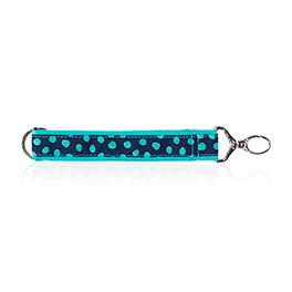 Hang-It-Up Key Fob in Navy Lotsa Dots - 4215