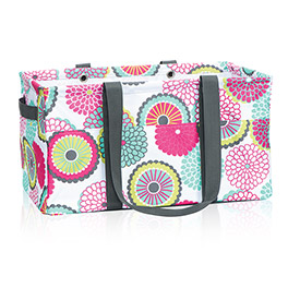Deluxe Utility Tote in Bubble Bloom - 4441
