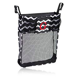 On A Stroll Bag in Black Chevron - 4639