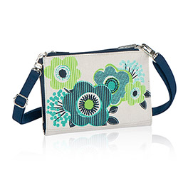 Cross Town Wallet in Natural w/ Fabulous Floral - 4711