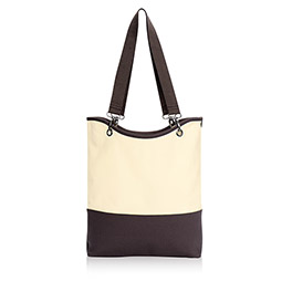Canvas Crew Carry-All in Natural (w/Brown) - 4778