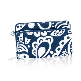 Perfect Cents Wallet in Navy Playful Parade - 4808