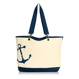 Canvas Crew Tote in Navy Anchor - 4858