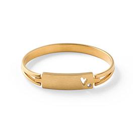 Heart & Soul Bracelet in Gold Tone - 6155