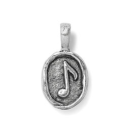 Wax Seal Charm - Music Note in Antique Pewter - 6184