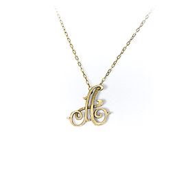 Monogram Initial Necklace in Gold Tone Initial A - 6185