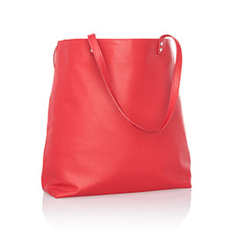 Around Town Tote in Very Cherry Pebble - 8309
