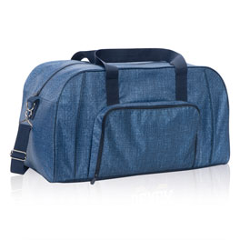 All Packed Duffle in Blue Crosshatch - 8319