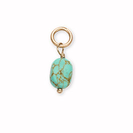 Natural Stone Charm in Turquoise - 8368