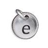 Silver Tone Initial E