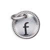 Silver Tone Initial F