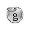 Silver Tone Initial G