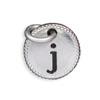Silver Tone Initial J