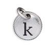 Silver Tone Initial K