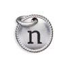 Silver Tone Initial N