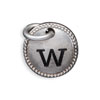 Silver Tone Initial W