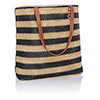 Navy Striped Straw