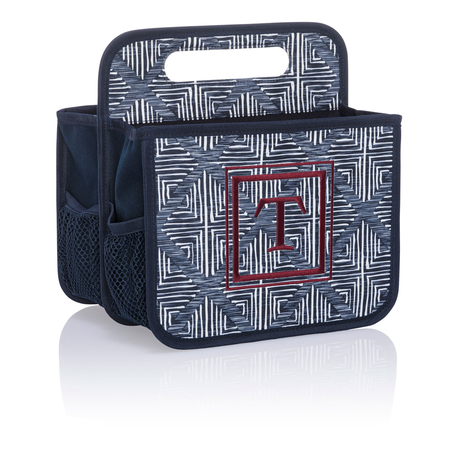 New Thirty-One Double Duty Caddy-Grey Brush Strokes