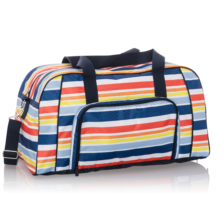 Orange Paint Splatter Design Personalization Custom Weekender//Overnighter Bag