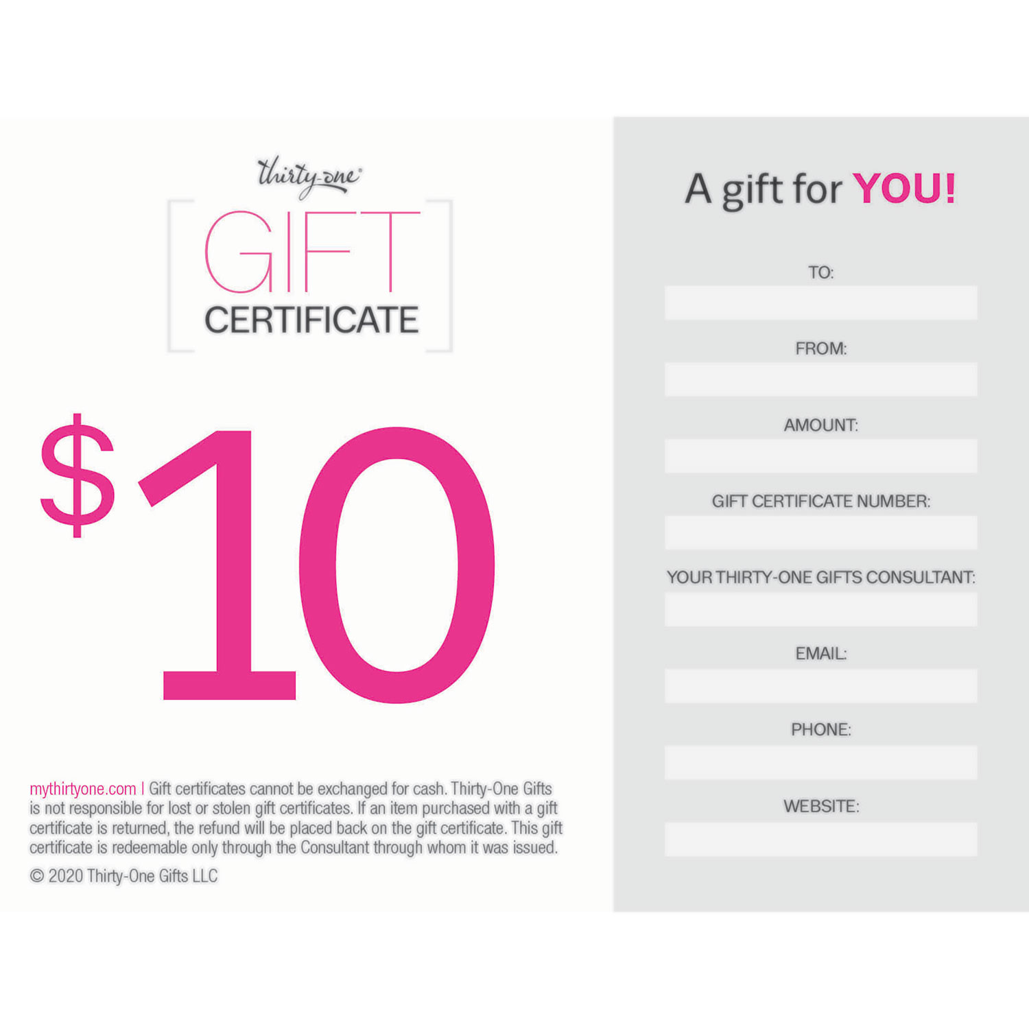 $50.00 - GIFT - Thirty-One Gifts