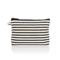 Mini Zipper Pouch - Twill Stripe