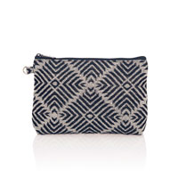 Mini Zipper Pouch - Diamond Weave