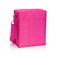 Picnic Thermal Tote - Pink Crosshatch