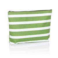Zipper Pouch - Green Cabana Stripe
