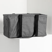Large Utility Tote - Charcoal Crosshatch
