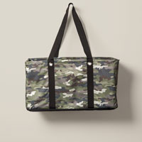Large Utility Tote - Camo Crosshatch
