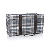 Large Utility Tote - Cozy Plaid