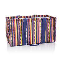 Large Utility Tote - Purple Southwest Stripe