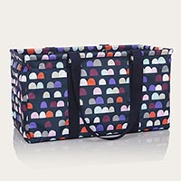 Large Utility Tote - Gumdrop Spots