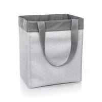 Essential Storage Tote - Light Grey Crosshatch
