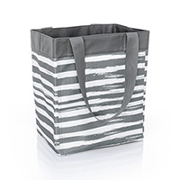 Essential Storage Tote - Grey Brush Strokes