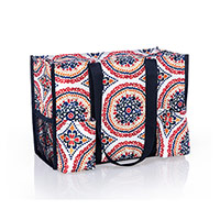 Zip-Top Organizing Utility Tote - Sunset Medallion