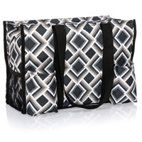Zip-Top Organizing Utility Tote - Deco Diamond