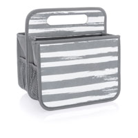 Double Duty Caddy - Grey Brush Strokes
