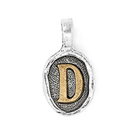 Wax Seal Charm - Two Tone Initial D