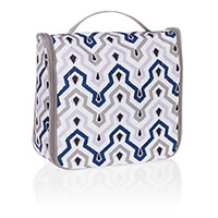 Hanging Traveler Case - Ikat Waves